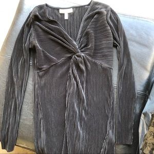 Jessica Simpson black ruched top